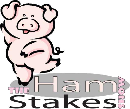 a dancing piggy, the Ham Stakes show mascot!