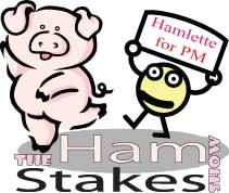 the Ham Stakes piggy mascot Hamlette.