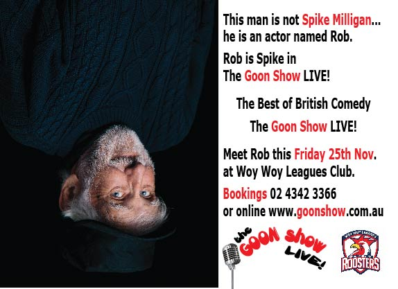 This man is NOT Spike Milligan, he is an actor named Rob