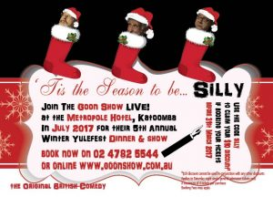 promo card for The Goon Show LIVE! at Yulefest Blue Mountains 2017