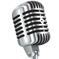old style radio microphone